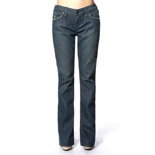 Stitch's Women's Dark Blue Denim Wash Flared Jeans
