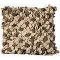 Mina Victory Felt Beige/ Brown 20-inch Throw Pillow