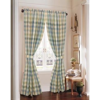 Rose Tree Flora Plaid Curtain Panel Pair