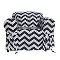 Black/White Chevron Print One-piece Chair Slipcover