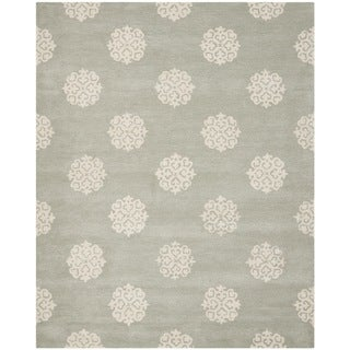 Safavieh Handmade Soho Grey/ Ivory Wool Rug (9' x 12')