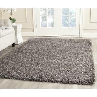 Safavieh New York Shag Brown/ Grey Rug (4' x 4')