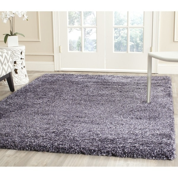Safavieh New York Shag Purple/ Purple Rug (4' x 4')