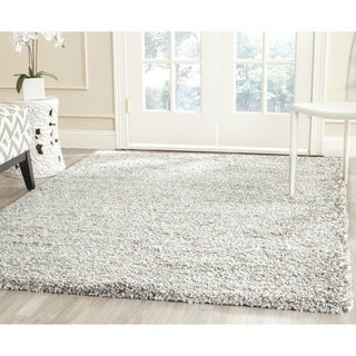 Safavieh New York Shag Grey/ Grey Rug (4' Square)