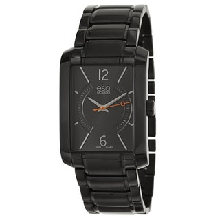 ESQ by Movado Men's 'Synthesis' Black Stainless Steel Swiss Quartz Watch