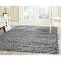 Safavieh New York Shag Blue/ Blue Rug (6' x 9')