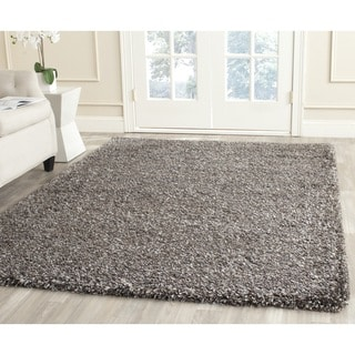 Safavieh New York Shag Brown/ Brown Rug (8' x 10')