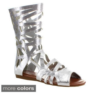 Forever Women's 'Sonia-83' Cut-out Gladiator Style Mid-calf Sandals