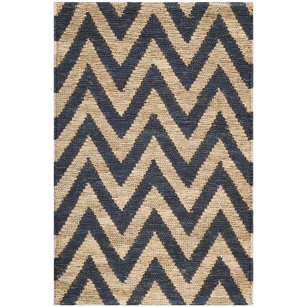 Safavieh Hand-knotted Organica Blue/ Natural Jute Rug (2'6 x 4')