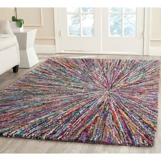 Safavieh Handmade Nantucket Multi Cotton Rug (4' x 6')