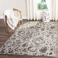 Safavieh Porcello Dark Grey/ Ivory Rug (4' x 5'7)