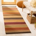 Safavieh Hand-woven Striped Kilim Gold Wool Rug (2'3 x 6')