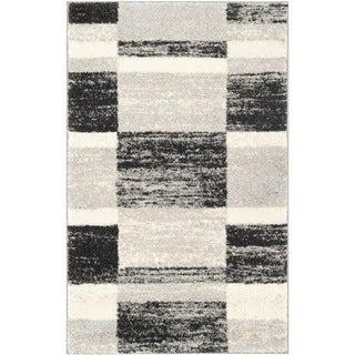 Safavieh Retro Black/ Light Grey Rug (3' x 5')