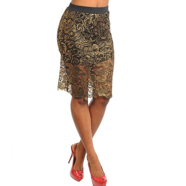 Shop The Trends Woman Mid-length Lace Skirt
