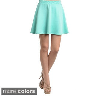 Feellib Women's Bright Solid Skirt