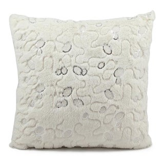Nourison Mina Victory Faux Fur Throw Pillow