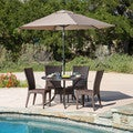 Christopher Knight Home Brooke Circular Outdoor Cast and Wicker 5-piece Set
