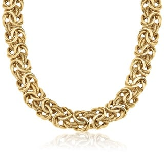 Gioelli Gioelli 14k Yellow Gold Heavyweight Byzantine Necklace