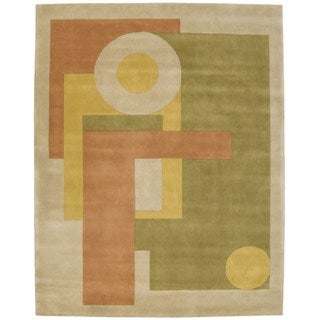 Dimensions Green Wool Area Rug (8' x 11')