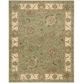 2000 Light Green Wool Area Rug (7'9 x 9'9)
