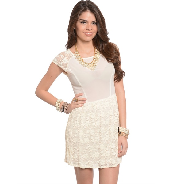 Shop The Trends Women's Short Sleeve Floral Dress