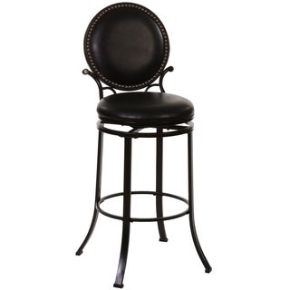 Spencer Studded Black Adjustable Stool