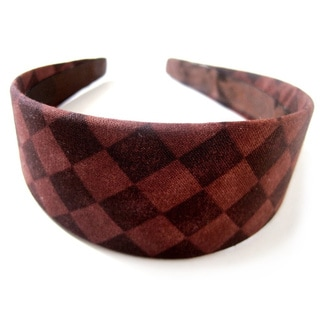 Crawford Corner Shop Two-tone Brown Diamond-print Headband