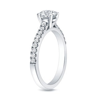 Auriya 14k Gold 1ct TDW Round-cut Diamond Engagement Ring (H-I, SI1-SI2)