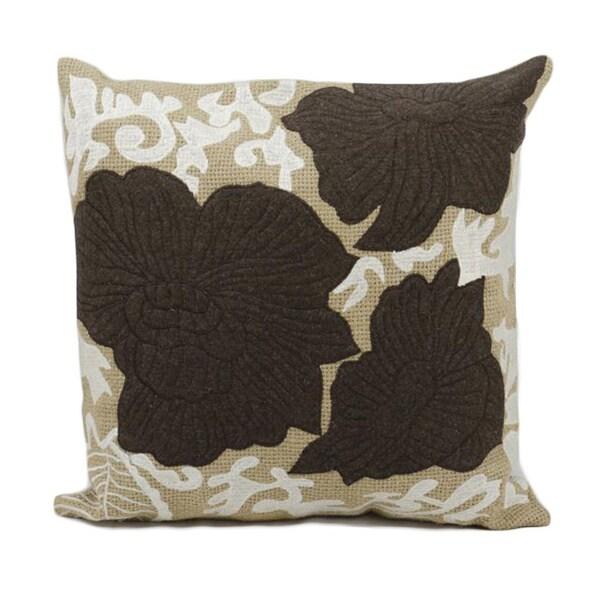 Nourison Felt 20-inch Brown/Tan Throw Pillow