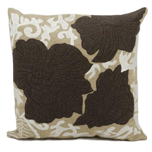 Nourison Felt 20-inch Brown/Tan Throw Pillow