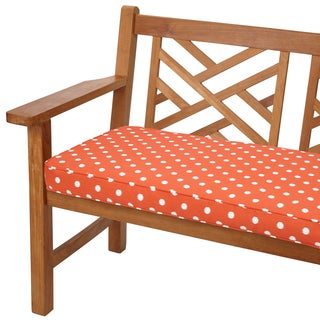 Orange Dots 60-inch Indoor/ Outdoor Corded Bench Cushion