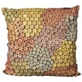 Mina Victory Multicolored Button 20x20 Throw Pillow