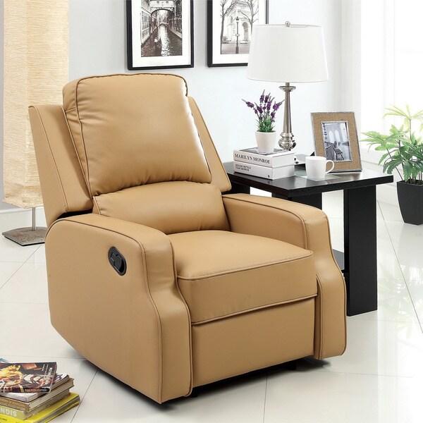 Furniture of america piker plush cushion leatherette recliner 3f574632 0c5a 4c1b 918b 02292e8efa70 600