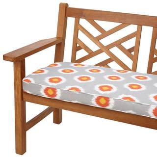 Ikat Citrus Dots 48-inch Indoor/ Outdoor Corded Bench Cushion
