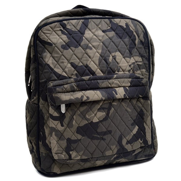 Rosen Blue Camouflage Printed Quilted Classic Backpack