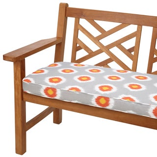 Ikat Citrus Dots 60-inch Indoor/ Outdoor Corded Bench Cushion
