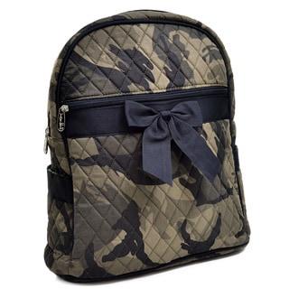 Rosen Blue Camouflage Printed Quilted Backpack Handbag