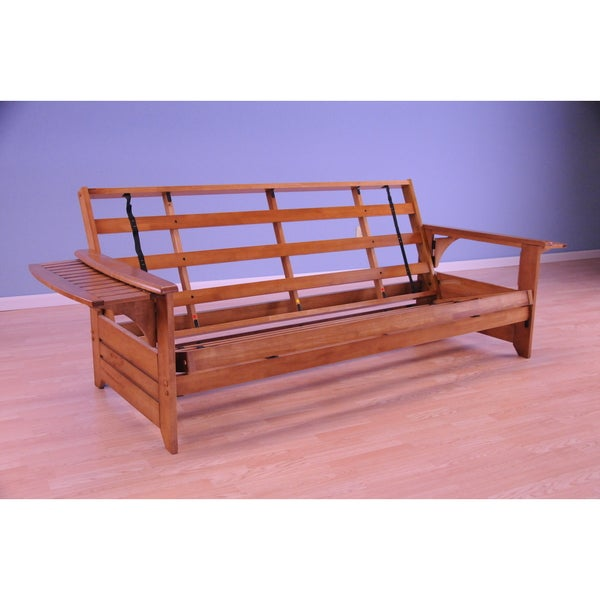 Somette Ali Phonics Multi-Flex Honey Oak Wood Futon Frame