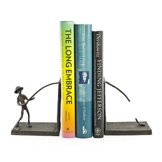 Fisherman Iron Bookend Set