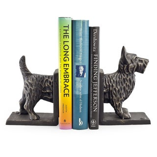 Terrier Dog Iron Bookend Set