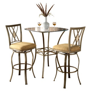 Brookside 3-piece Brown Powder Coated Bistro Set