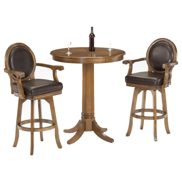 Warrington Tall Rich Cherry 3 Piece Pub Set 16107426
