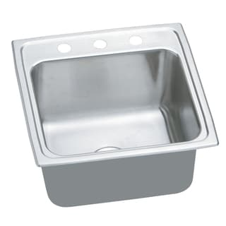 Elkay Gourmet Lustertone Stainless Steel Top Mount Sink