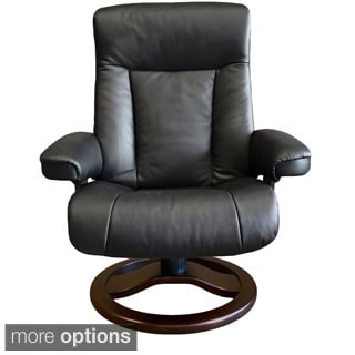 Fjord Scansit Leather Recliner and Ottoman