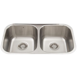 VIGO 32-inch Undermount Stainless Steel Double Bowl Kitchen Sink