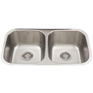 32-inch Undermount Stainless Steel Double Bowl Kitchen Sink