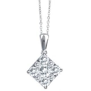 Unity 10k White Gold 1/2ct TDW Diamond Necklace (G-H, I1-I2)