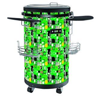 Single-zone 70-bottle Contemporary Green Party Cooler