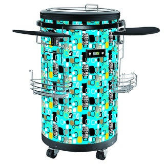 Single-zone 70-bottle Contemporary Blue Party Cooler