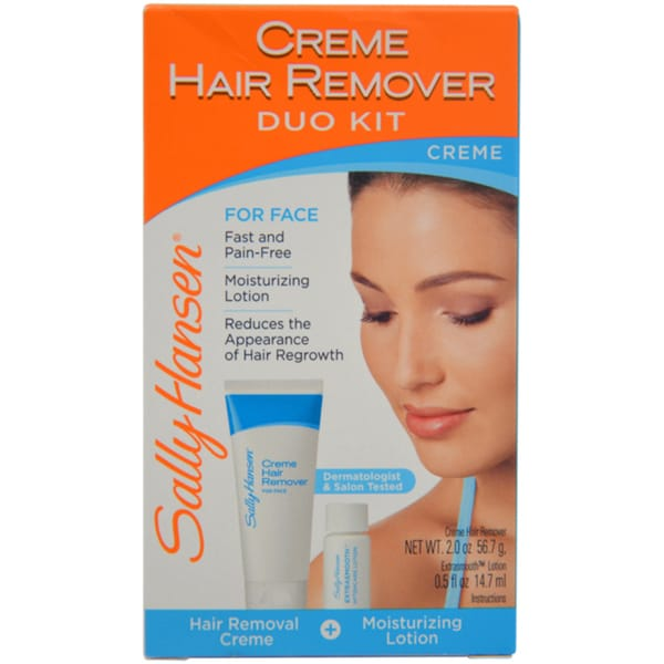 Sally Hansen Cream Hair Remover Duo Kit for Face